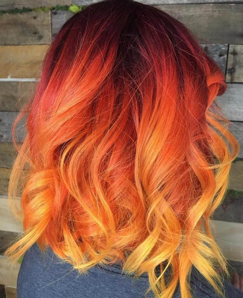 Botage flame hair color