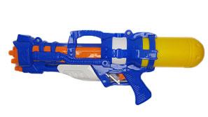 تفنگ آبپاش مدل پمپی رنگ آبی