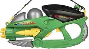 تفنگ آبپاش اسباب بازی فضایی رنگ سبز