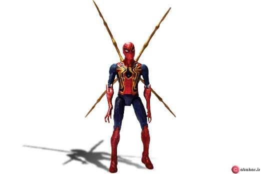 اکشن فیگور طرح مرد عنکبوتی مدل iron spiderman