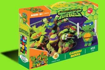 ساختنی اسباب بازی های پویا طرح لاکپشت های نینجا کد 9943