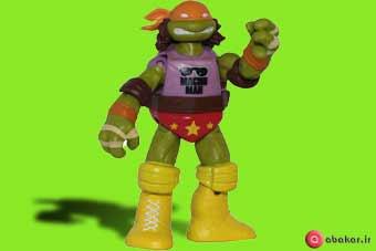 اسباب بازی اکشن فیگور طرح لاکپشت های نینجا مدل مایکل آنجلو