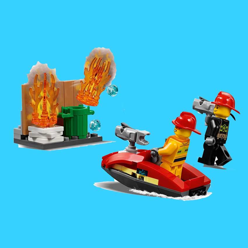 ساختنی ساختمان آتش نشانی با قطعات کوچک