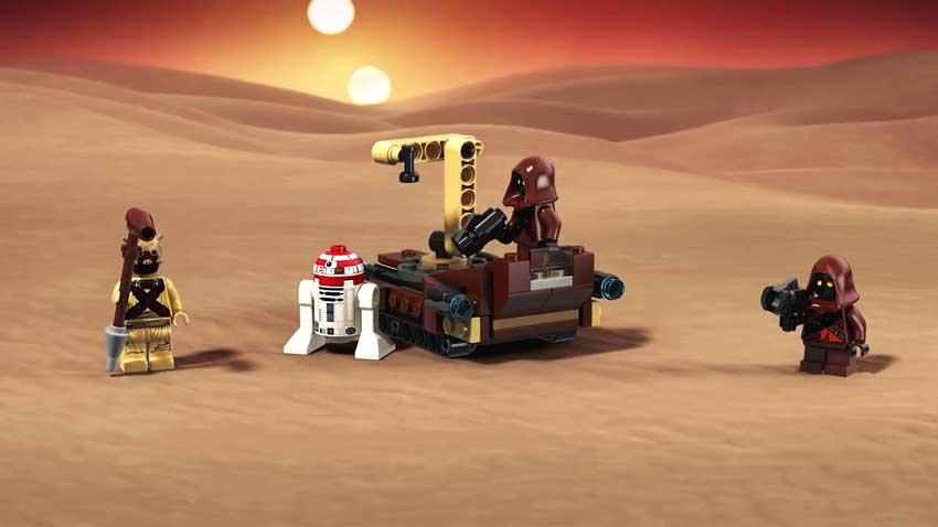 لگو جنگ ستارگان در سیاره صحرایی