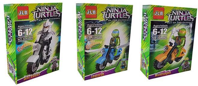 ساختنی جی ال بی مدل Ninja Turtles بسته 6 عددی