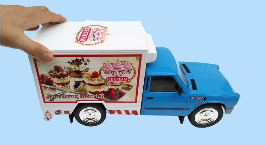 ماشین بازی نیسان یخچال دار مدل حمل بستنی