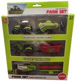 کیت ماشین بازی مدل تراکتور مزرعه کد 08 مجموعه 3 عددی