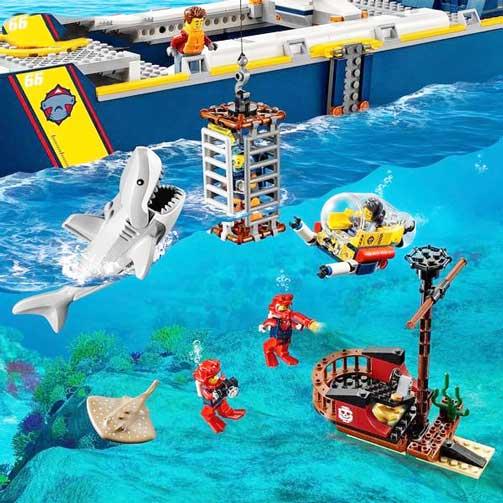 خرید لگو سیتی مدل کشتی اقیانوس