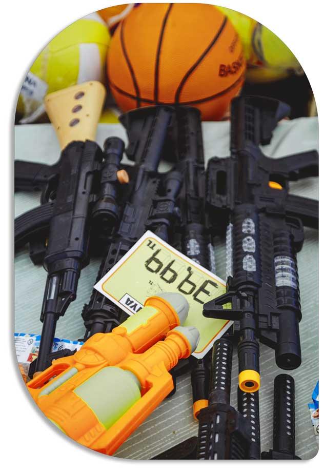 تفنگ و لوازم جنگی اسباب بازی